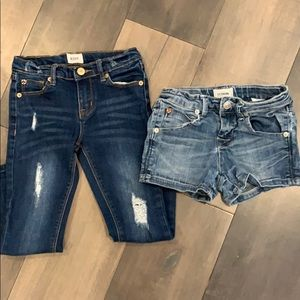 Lot of girls Hudson jeans and shorts size 6/7 EUC